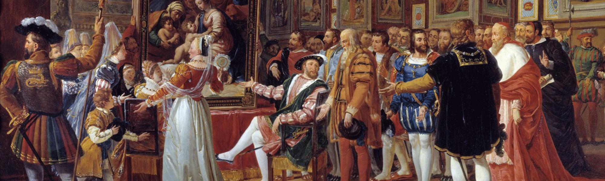 François Ier, aux côtés de Léonard de Vinci,