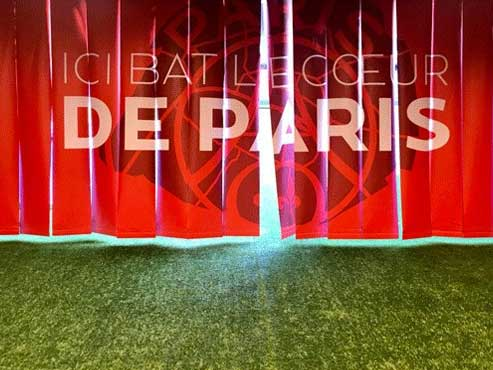 Visite du Parc des Princes avec un joueur du PSG