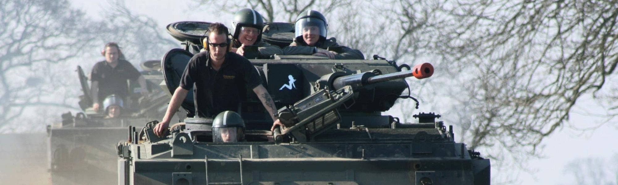 conduire un tank
